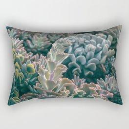 Mornings In The Succulent Garden #1 Rectangular Pillow