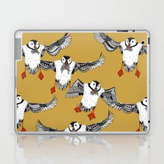 Atlantic Puffins gold Laptop & iPad Skin