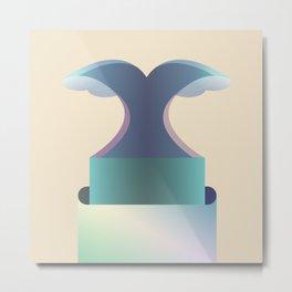 I wave letter Metal Print