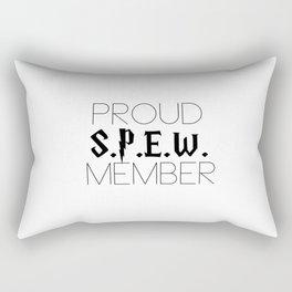 proud s.p.e.w. member // white Rectangular Pillow