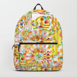Art Deco Pastel Fireworks Backpack