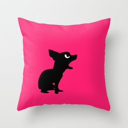 Angry Animals: Chihuahua Throw Pillow