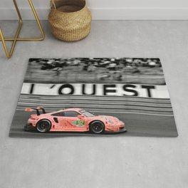 Pink Pig German Sports Motor Car Le Mans 2018 Rug