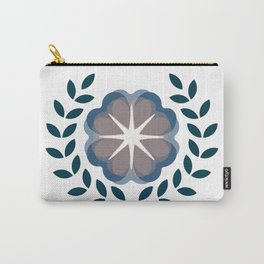floral wreath // blue Carry-All Pouch