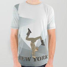 Gymnastics New York All Over Graphic Tee