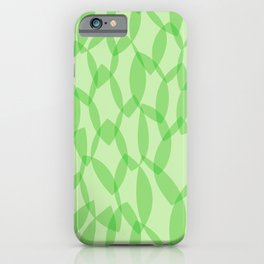 Overlapping Leaves - Light Green iPhone Case