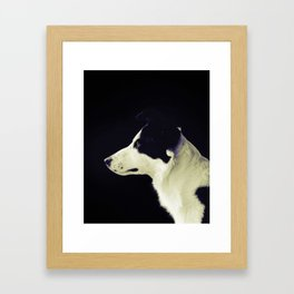 Men best friend Framed Art Print