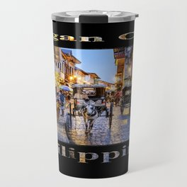 Rush Hour in Vigan City (on black) Travel Mug