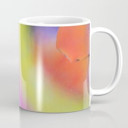 Oil drops in water. Abstract psychedelic pattern image rainbow colored. Abstract background with colorful gradient colors. Coffee Mug