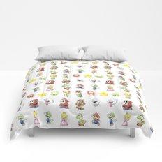 Mario Characters Watercolor Geek Gaming Videogame Comforters