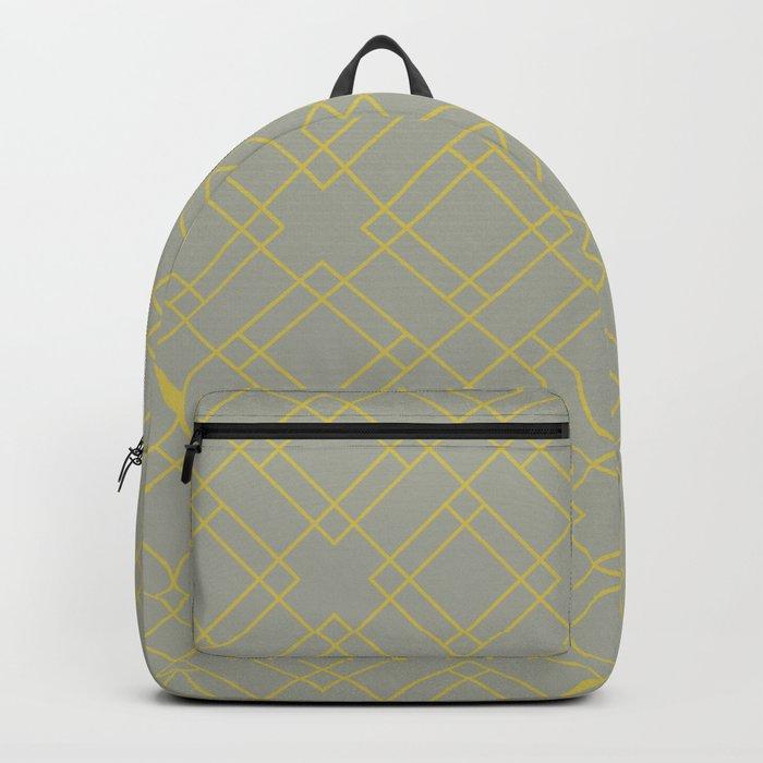 Simply Mod Diamond Mod Yellow on Retro Gray Backpack