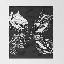 Beasts in Black Throw Blanket