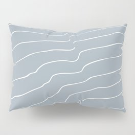 Contour Lines Grey Pillow Sham