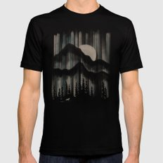 A Wolf in the Night... Mens Fitted Tee LARGE Black