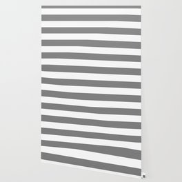 Gray (HTML/CSS gray) -  solid color - white stripes pattern Wallpaper