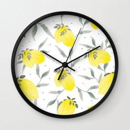 Lemon Poppy Wall Clock