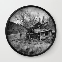 Abandoned House in Oregon Wall Clock