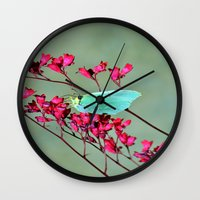 butterfly Wall Clocks featuring butterfly by  Agostino Lo Coco