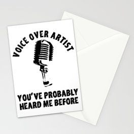 Voice Over Artist Shirt Vintage Microphone Voice Actor Gift Stationery Cards