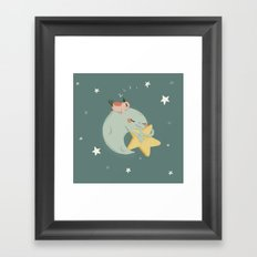Moon Nap Framed Art Print