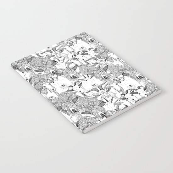 just goats black white Notebook