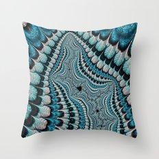 Native American Headdress (fractal art) Throw Pillow