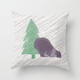Solstice Bear Throw Pillow