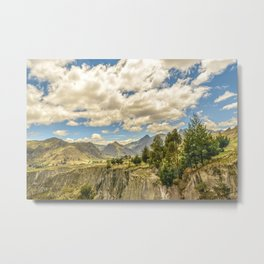 Valley and Andes Range Mountains Latacunga Ecuador Metal Print