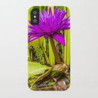 lotus flower iPhone & iPod Cases featuring Lotus  by Karl-Heinz Lüpke