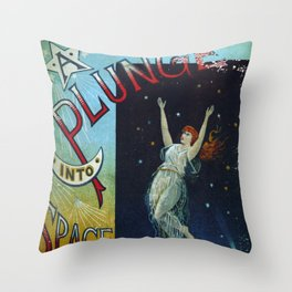 A Plunge into Space Throw Pillow