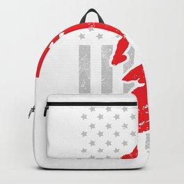 Motocross Dirt Bike USA American Flag Backpack