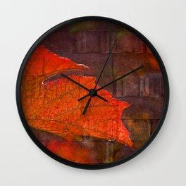Fiery Wall Wall Clock