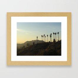 Los Angeles, Hollywood sign Framed Art Print