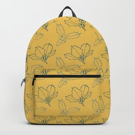 Holy Berries Blue on Gold Backpack