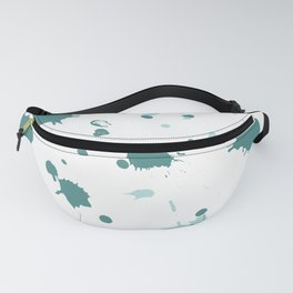 Teal Blue Paint Splatters Fanny Pack