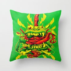 BEASTBURGER Throw Pillow