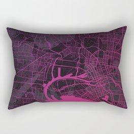 Melbourne Map in Pink Rectangular Pillow