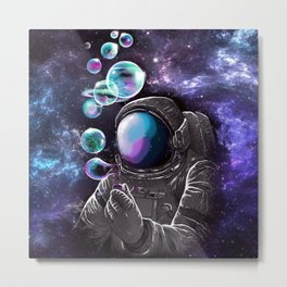 The Lonely Spacewoman Metal Print
