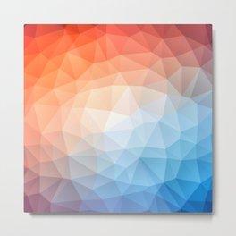 3D Triangle Illusion Art  Metal Print