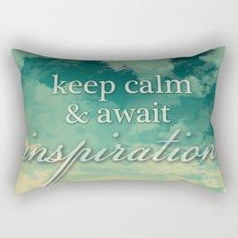 Keep calm and await inspiration Rectangular Pillow