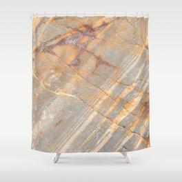 Rock Pattern II (Lake Tahoe, California) Shower Curtain