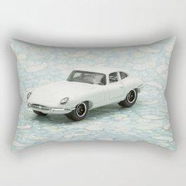 Vintage 1961 Jaguar Type E Matchbox Rectangular Pillow