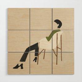 Eames Chair Woman Wood Wall Art