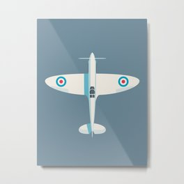 Spitfire WWII fighter aircraft - Slate Metal Print