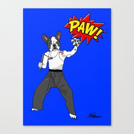 PAW POW - Kungfu Dog Canvas Print