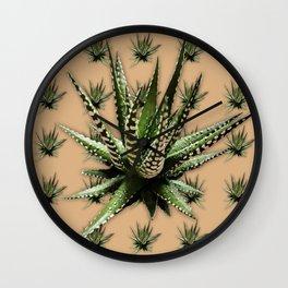 Aloe Vera abstract field Wall Clock
