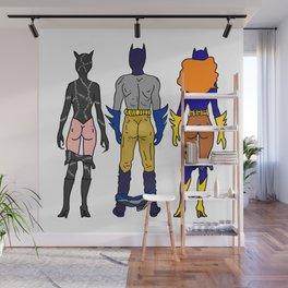 Superhero Butts Love 7 - Cat Bats Wall Mural