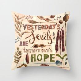 Seeds of Hope Throw Pillow