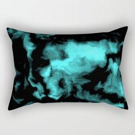 Teal and Black Rectangular Pillow
