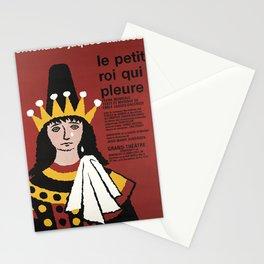 placard le petit roi qui pleure centenaire Stationery Cards